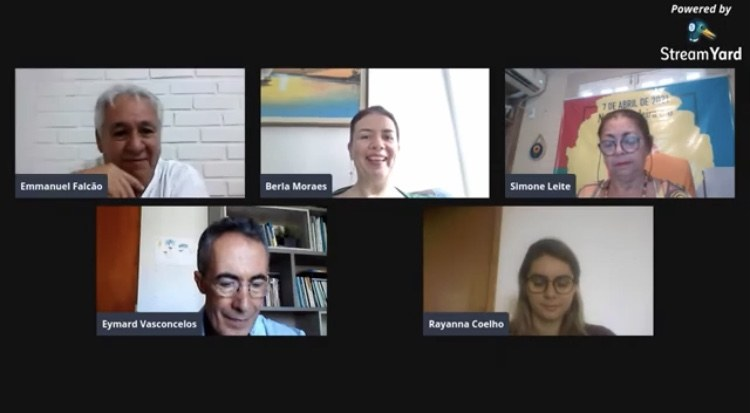 Sala virtual da abertura do curso_Captura de tela COEP (2021)