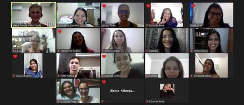 Reunião da Escola de postura da -UNIFAP + o grupo de pesquisas da UFPB. Imagem: captura de tela cedida pela equipe (2021)