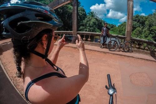 Atividade para reconhecimento da rota do Circuito Vale do Gramame de Cicloturismo. Imagem: foto de Thiago Nozzi, disponível no Flickr.