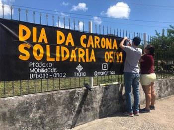 Projeto Mobilidade Urbana realiza evento para incentivar a carona solidária. Imagem cedida pela equipe (2019)